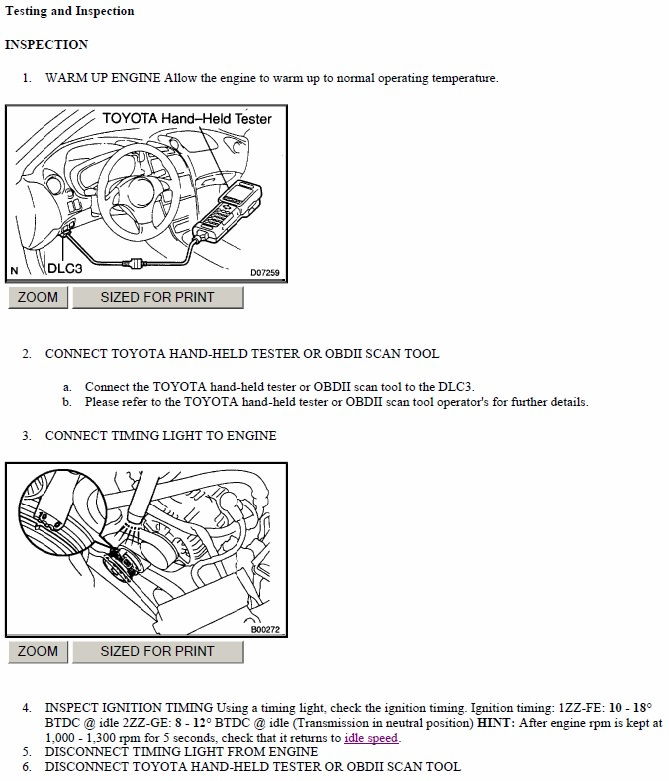 2008 Scion Tc Transmission: Ignition Timing Test