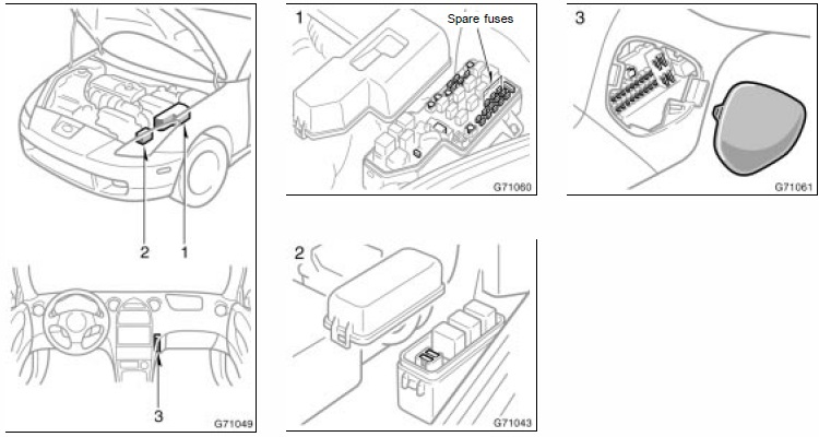 fuse blocks, engine room and center junction diagrams Toyota Celica 2001 Engine Diagram celica engine diagram machine repair