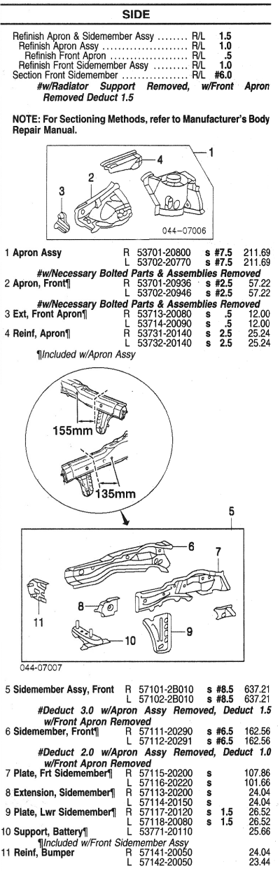 front inner structure side toyota celica parts catalog celica rh celicahobby com 2000 toyota celica parts catalog toyota celica parts list