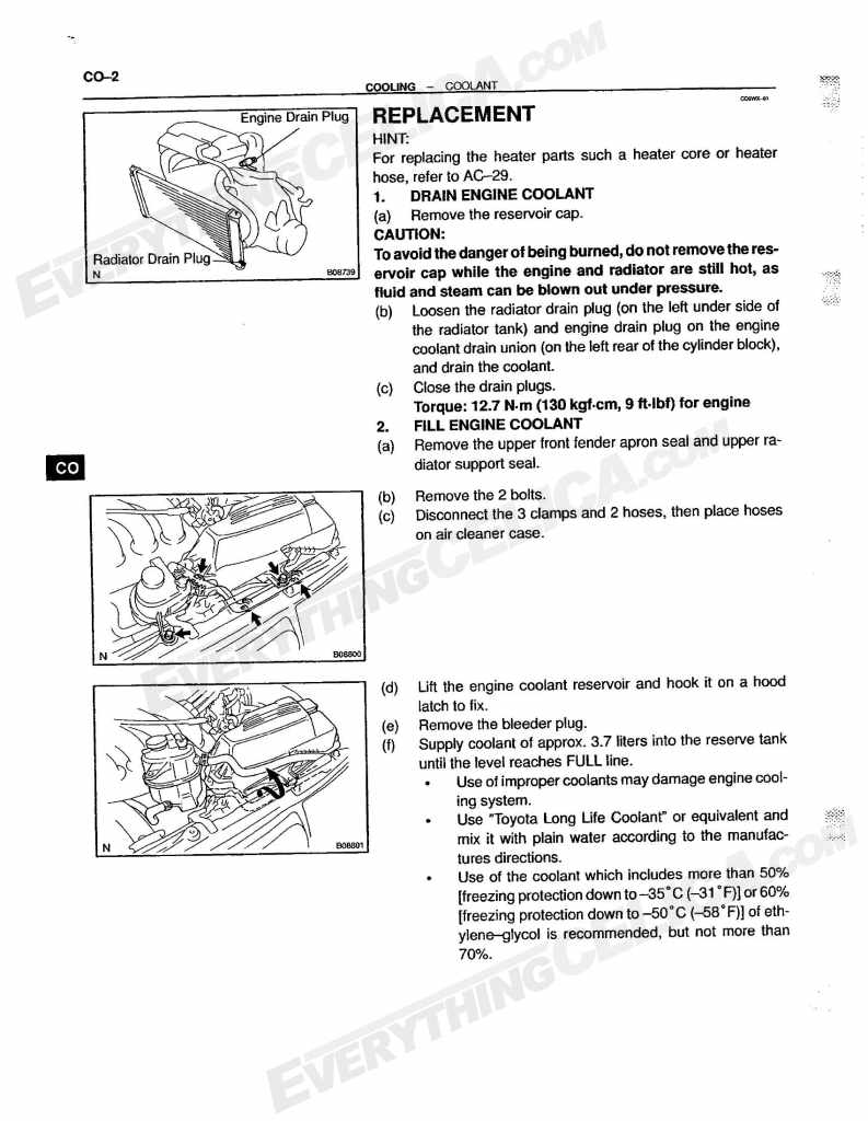 Coolant Antifreeze How To Replace Drain Fill Inspect Celica Porsche Engine Cooling Diagram Linked Image